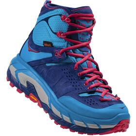 Hoka One One Tor Ultra Hi WP Shoes Damen blue jewel / medieval blue